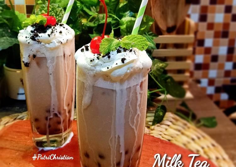 Milk Tea with Boba Jelly