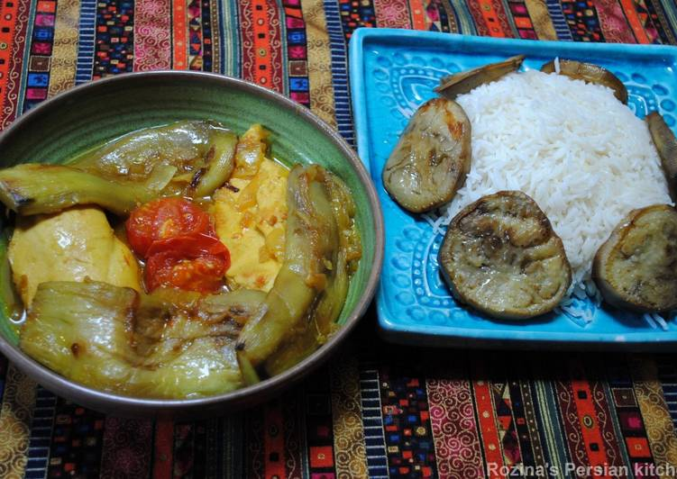 Easiest Way to Make Ultimate Persian Eggplants Stew with Chicken