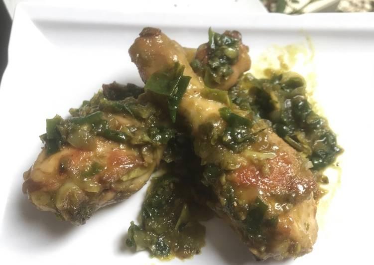 Paha Ayam cabe hijau