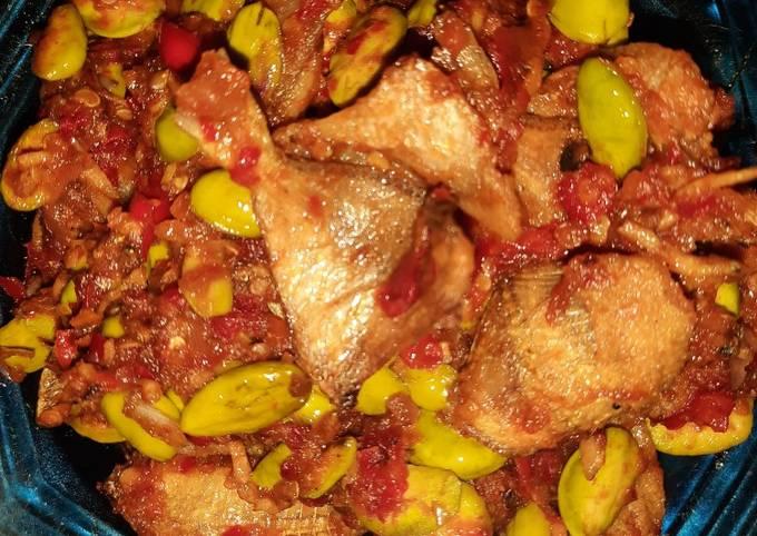 ikan asin sambal petai - resepenakbgt.com