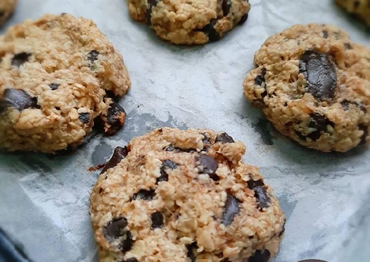 Banana oat choco cookie