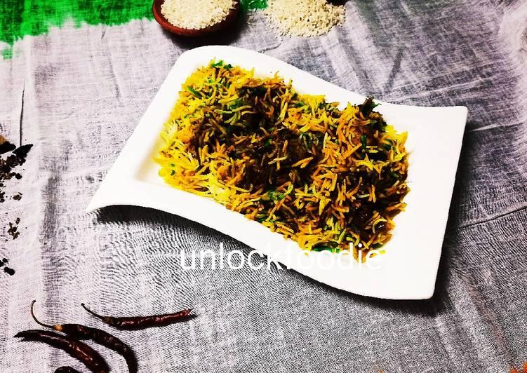 Tri colour spicy Chicken Biryani
