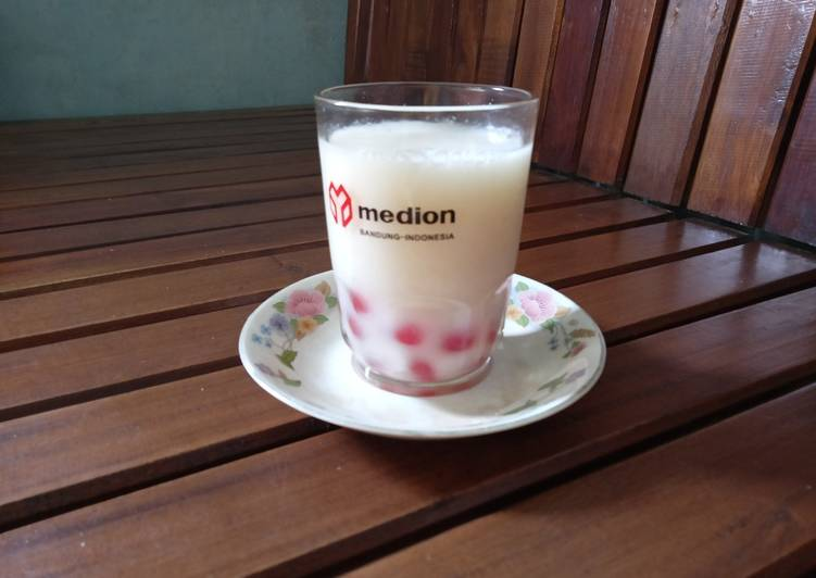 Boba Pink Susu Segar