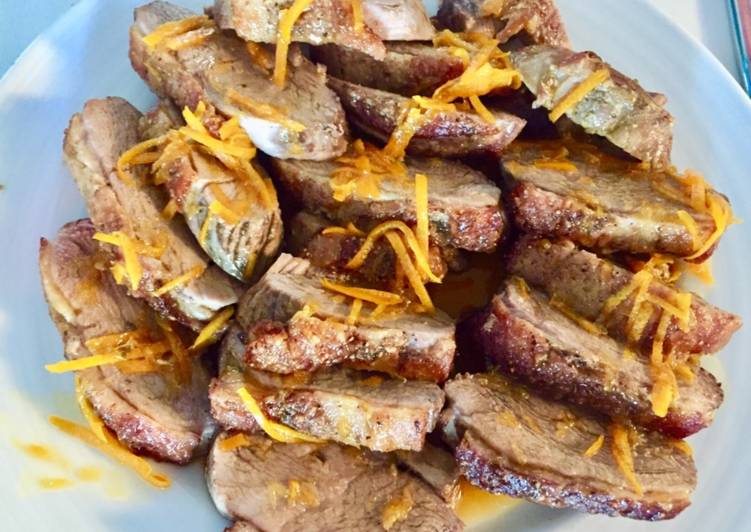 Recipe of Homemade Duck breasts fillet with orange sauce
