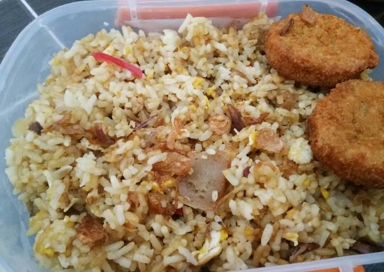 Resep Bekal suami -nasi goreng daging-#kitaberbagi Paling dicari