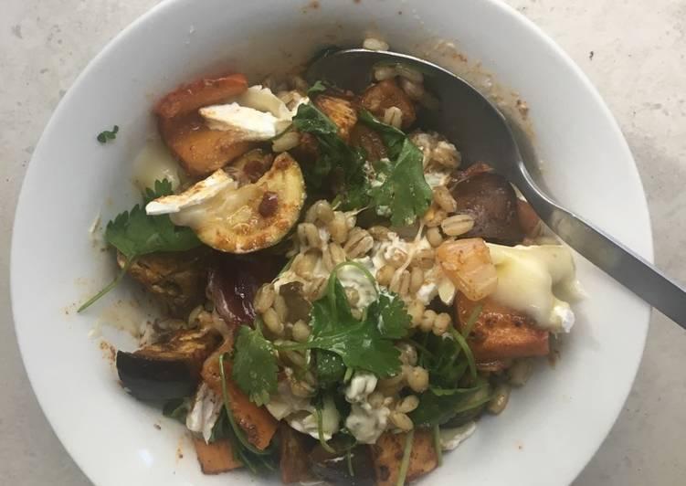 Recipe of Award-winning Roast vegetable and barley salad