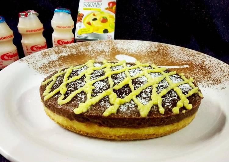 Yakult Tripe layered choco custard biscuit cake