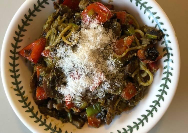 Recipe of Award-winning Pasta with Sautéed Vegetables & Pesto