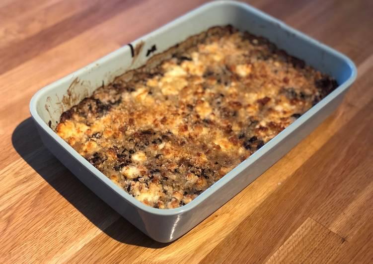 Recipe of Favorite Leek & Puy Lentil Gratin with Feta Topping