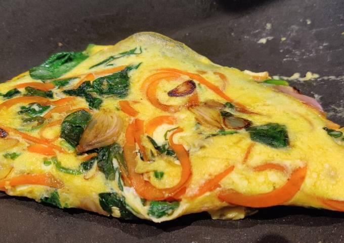 Autumn Veggie Omelette for 1