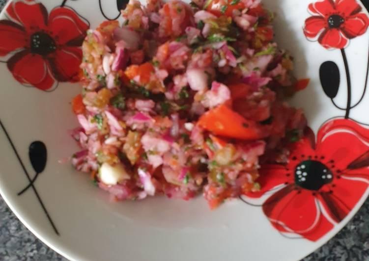 Quick tomato salsa