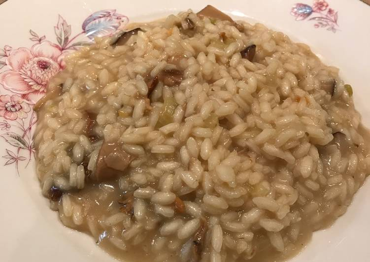 Porcini risotto (with tips to make it Vegan)