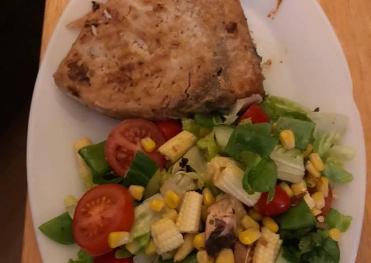 How to Make Most Popular Wine poached swordfish salad