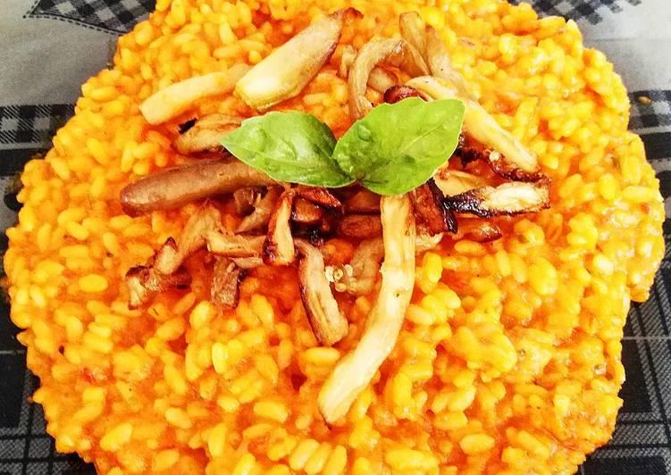 Ricetta Risotto con Crema di Zucca e Melanzane fritte