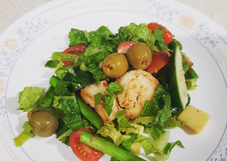 Recipe: Perfect Healthy prawn salad