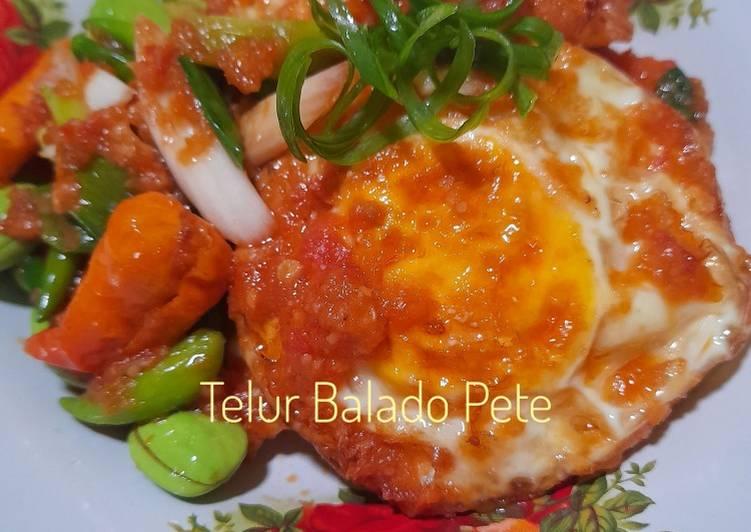 Resep: Telur balado pete