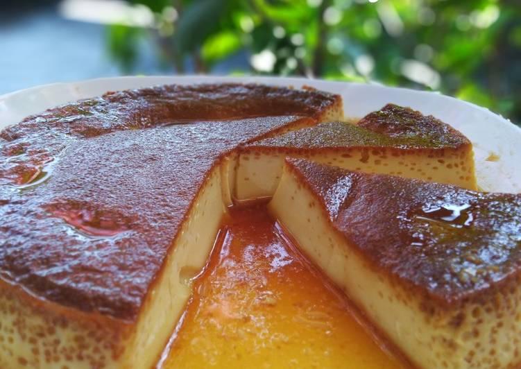 Purin (puding custard)🍮 steam+panggang kompor