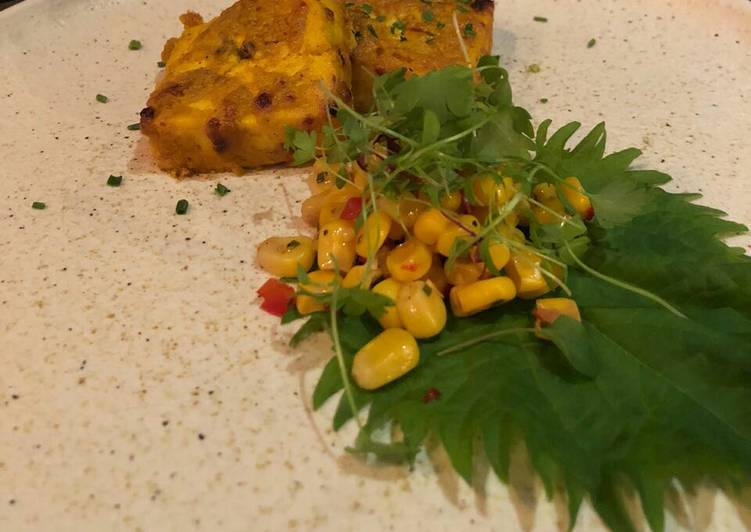 Simple Way to Make Quick Paneer corn masala tikka