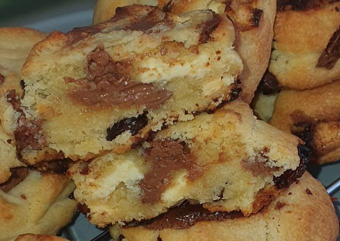 Cookies raisins secs, double choco