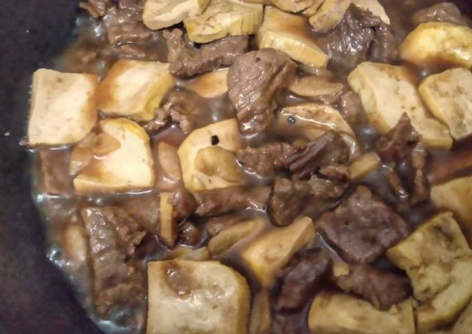 Beef and Tofu Blackpepper