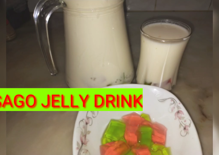 Recipe of Perfect Sago jelly refreshing drink