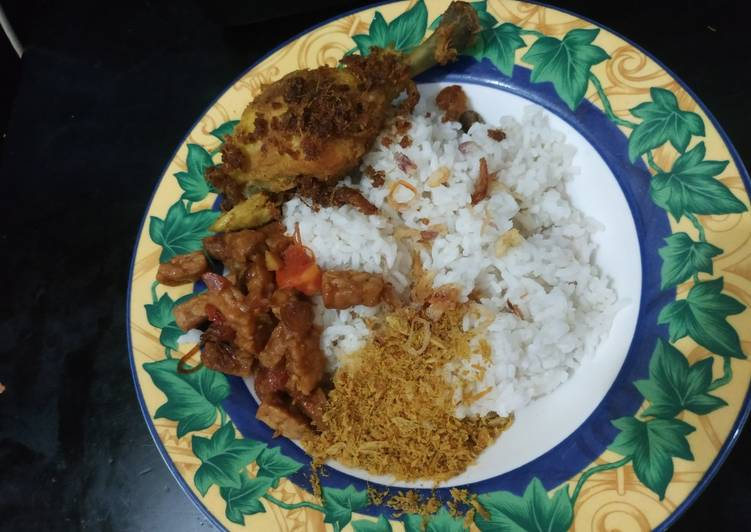 Nasi uduk rice cooker simple enak