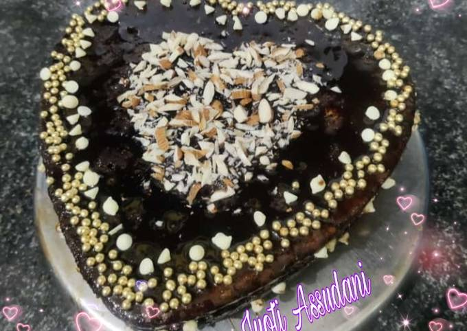 Valentine cake eggless without oven