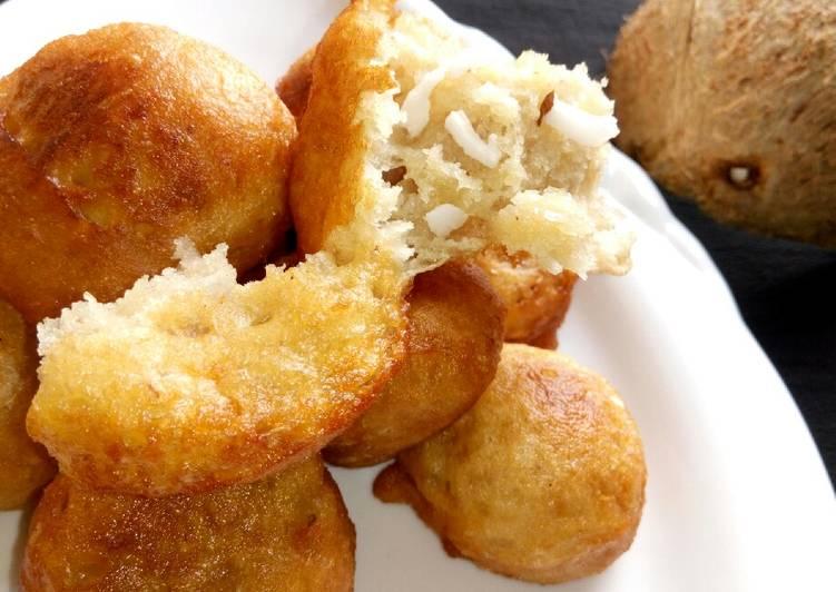 Recipe: Yummy Coconut puff puff