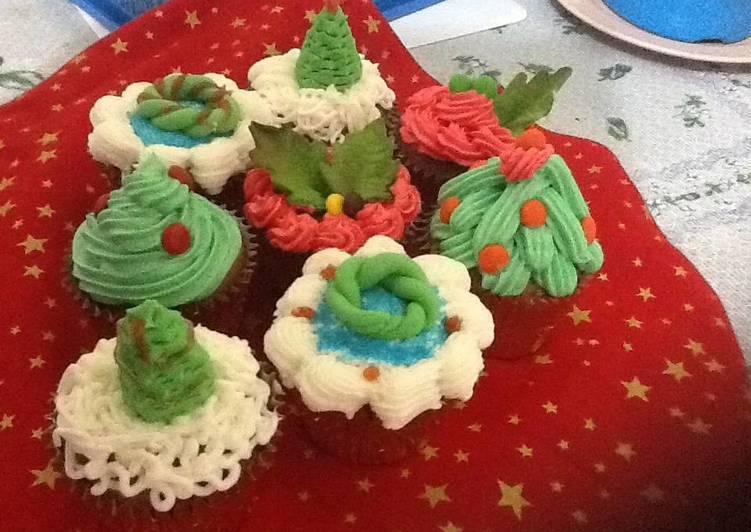 Christmas (pre) cupcake