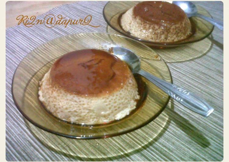 Pudding Custard Caramel Pineapple