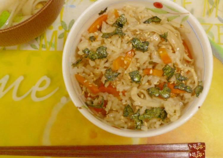 Resep Nasi Tim Jamur ala Jepang (Takikomi Gohan) Paling Mudah