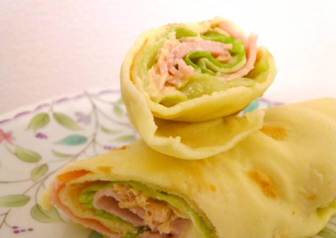 Resep Crepe Gulung Ham Praktis Oleh Akari Papa Cookpad
