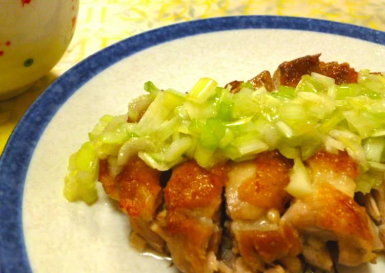 Ayam Teriyaki dengan Saus Daun Bawang (Toriniku Shio Negi)