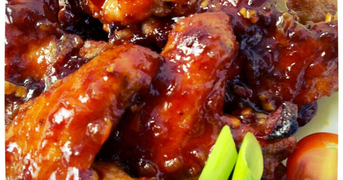 Honey Baked Chicken Wings (sayap ayam panggang madu)