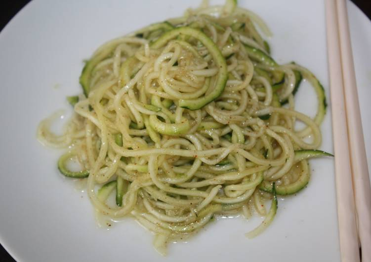Resep Easy Basic Zucchinni Noodles Paling Mudah
