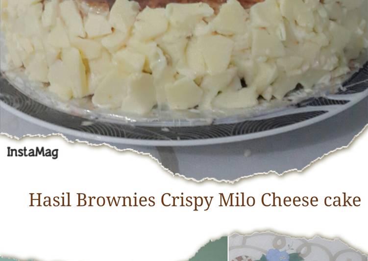 BROWNIES CRISPY MILO CHEESE CAKE