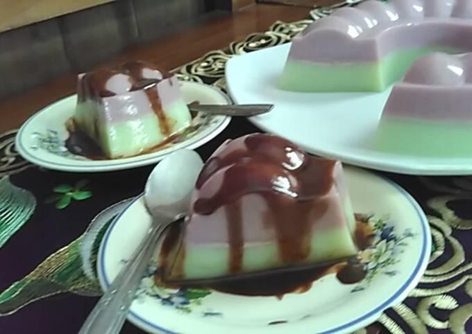 Puding Ame (Anggur MElon) Saus Coklat