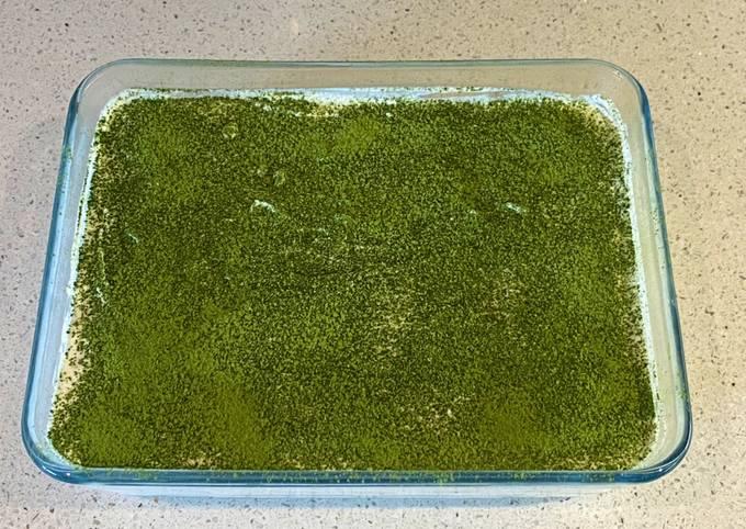 Matcha (green tea flavoured) tiramisu