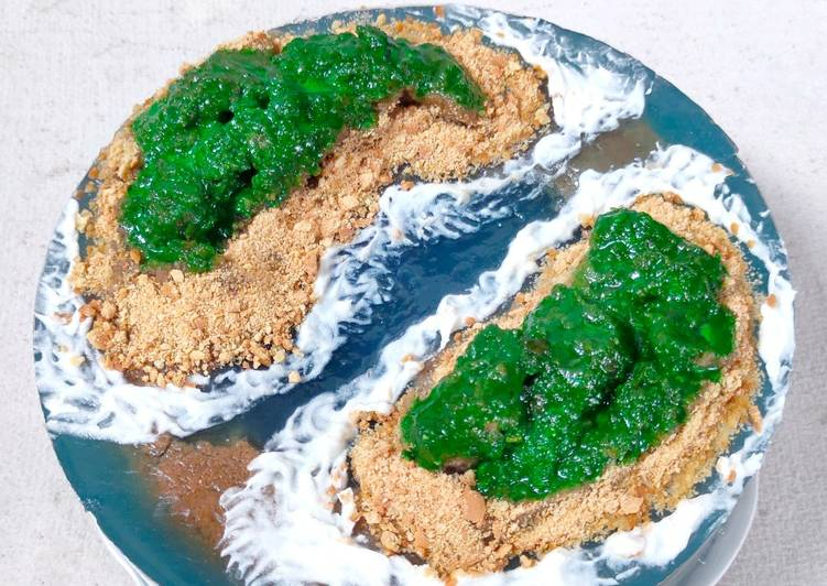 Island Cake - Ocean Cake - Coffe Puding Cake