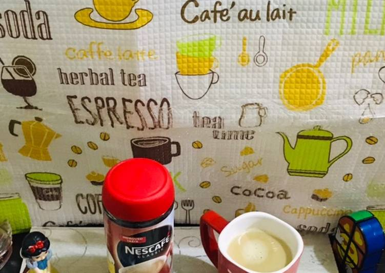 Creamy nescafe coffee
