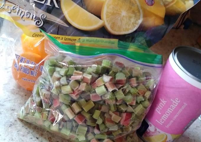 Sparkling Cherry Rhubarb Lemonade