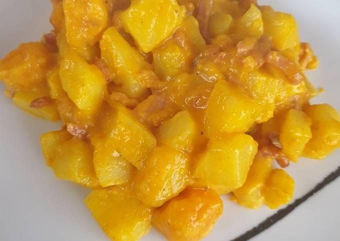 Curry de pommes de terre et potiron