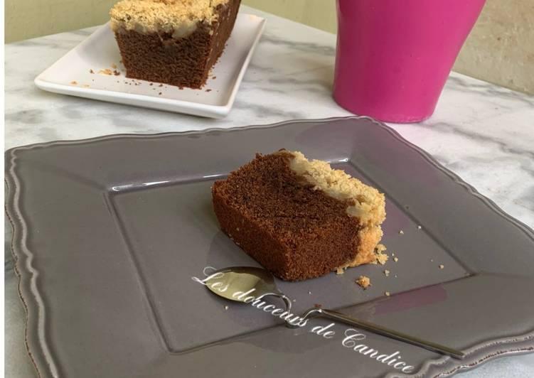 Recette Appétissante Crumble cake choco poires