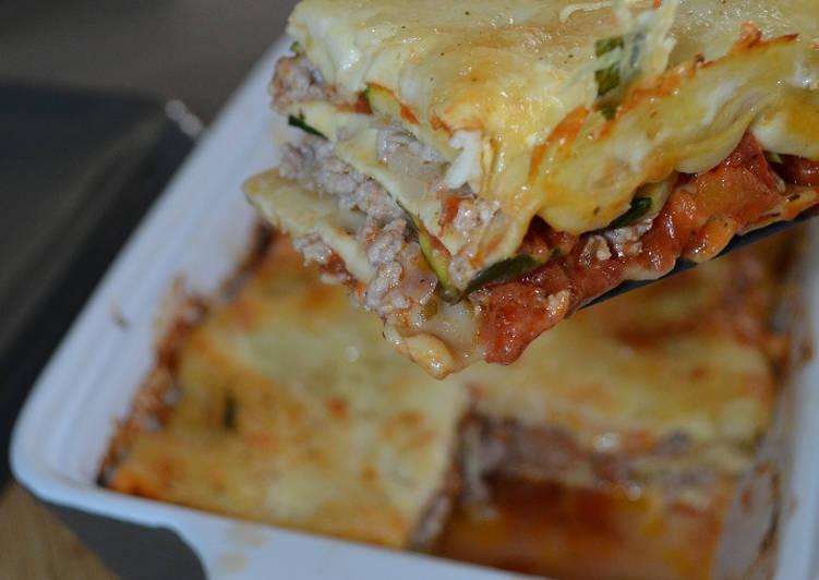 Lasagne veau courgette