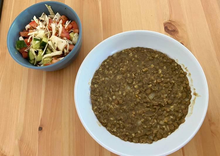 Steps to Make Award-winning Moujaddara (cooked lentils) Tasty 3-ingredient lunch