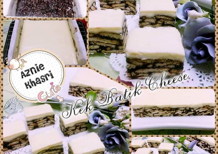 Cara Mudah Masak: Kek Batik Cheese  Lazat