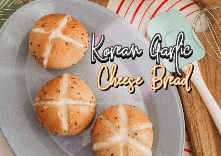 Korean Garlic Cheese Bread (Homemade Cream Cheese) Oven Tangkring - Ekonomis & Anti Gagal