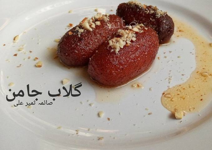 Recipe: Delicious Gulab jamun with homemade lassa khoya