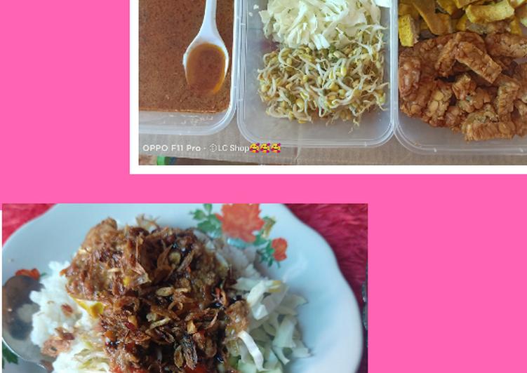 Nasi Lengko Sambel Kacang