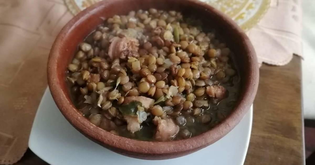 Lentejas Con Espinacas Y Chorizo Receta De Leticia Del Pilar Campos Olivares Cookpad